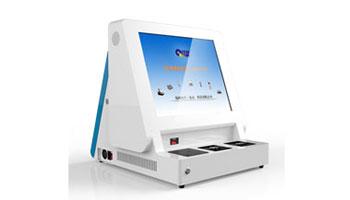 台式17寸双屏访客机QL-FK T17SP 主副屏同/异步显示信息 可扫描证件