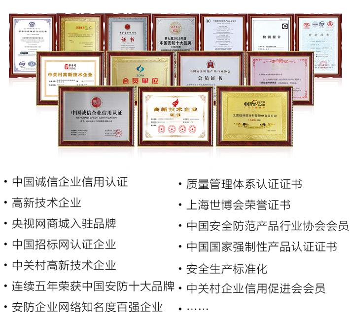 钱林认证证书和荣誉证书