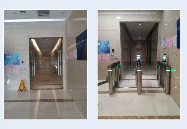 北京西海国际中心安装人脸识别门禁系统实现智能通行